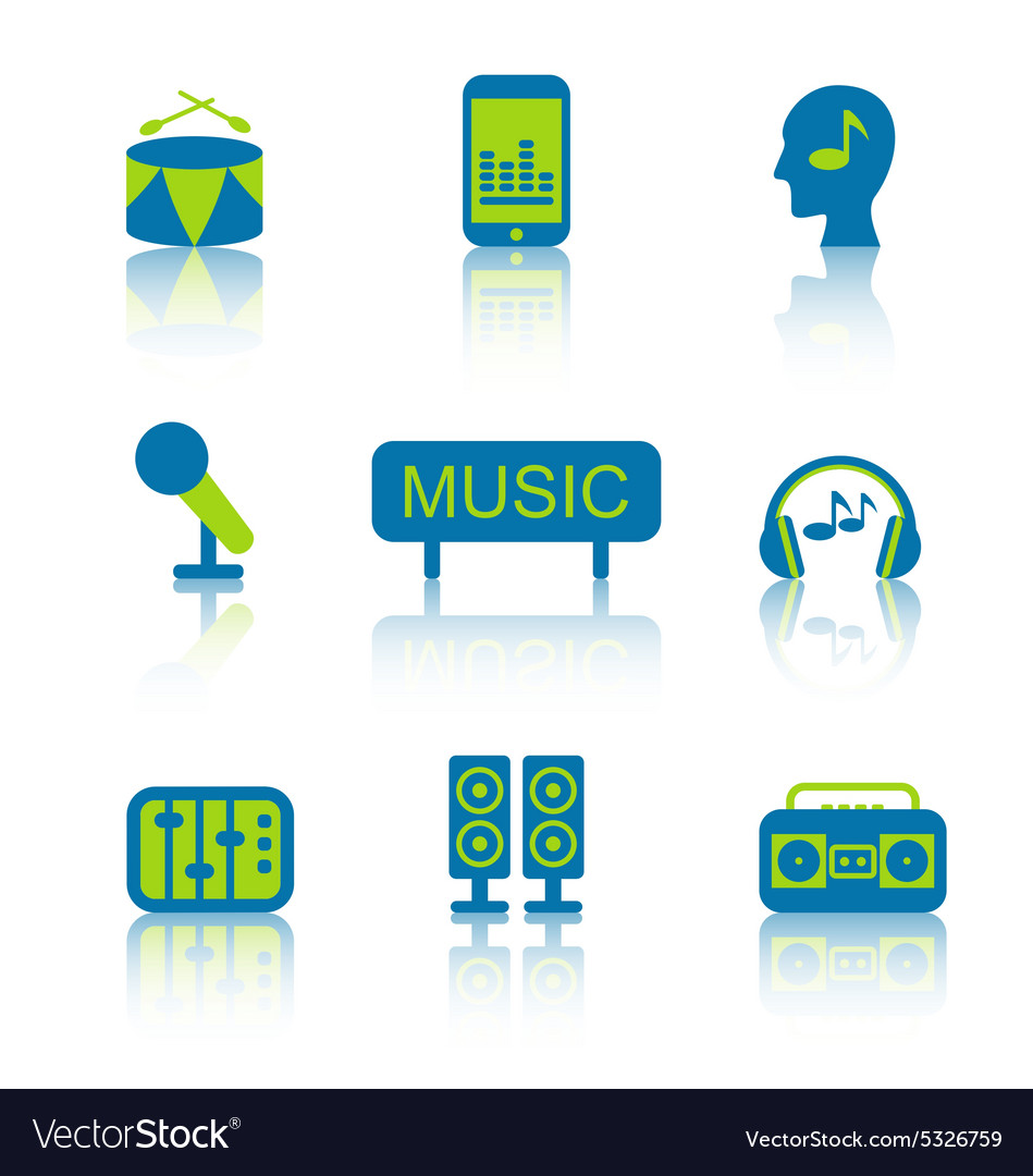 Music Equipment and Objects 2 vector image