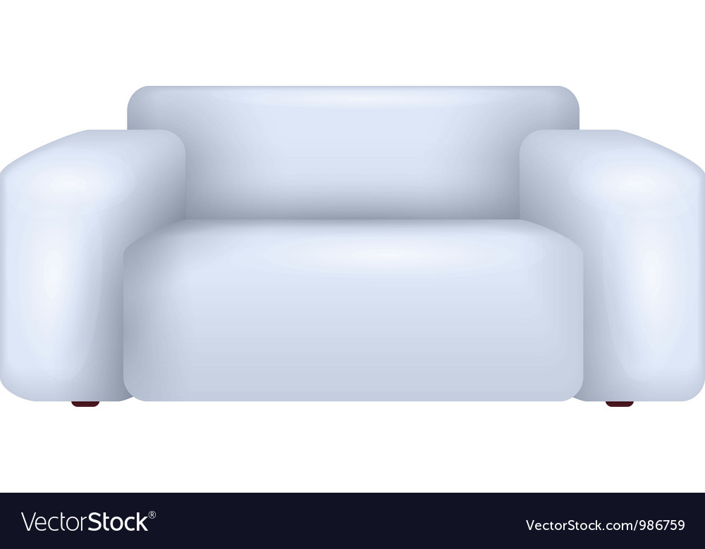 White Sofa Royalty Free Vector Image Vectorstock