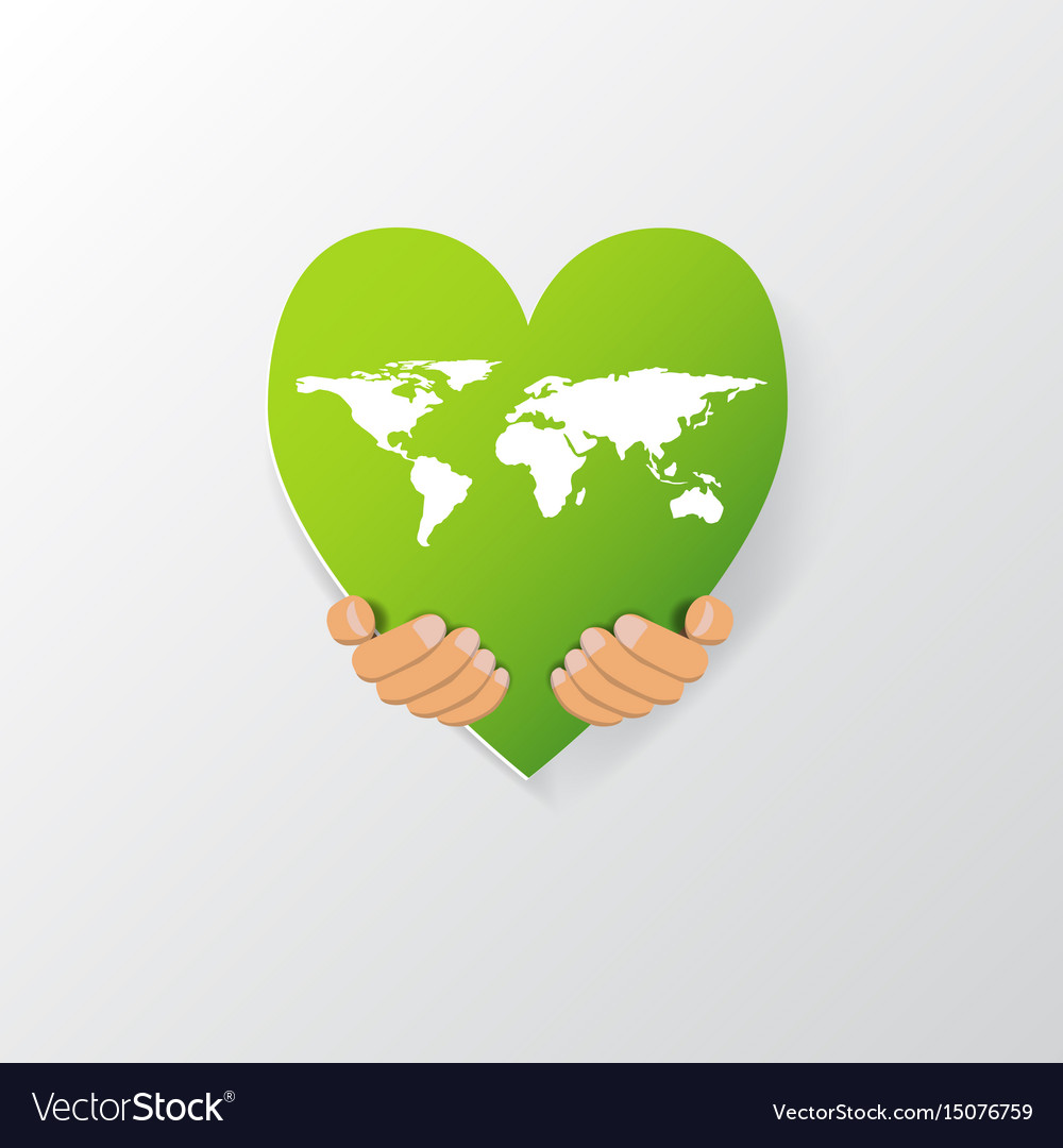 World map on heart shape royalty free vector image world map on heart shape vector image gumiabroncs Gallery