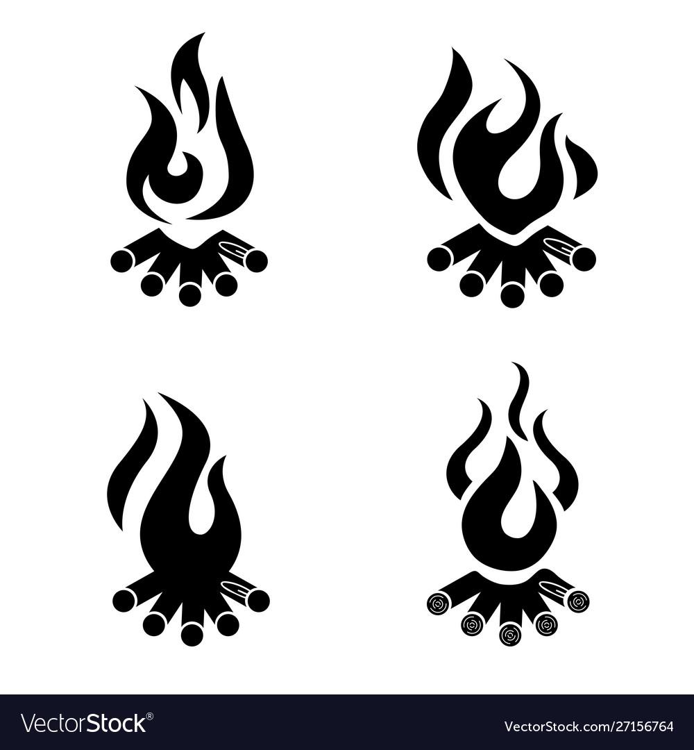 Bonfire icon campfire logo wood campfire