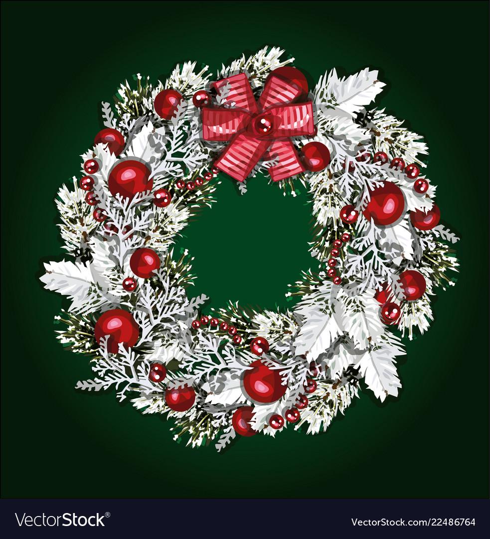 Christmas wreath beautiful evergreen wreath of