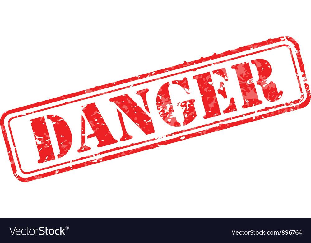 Danger rubber stamp vector image