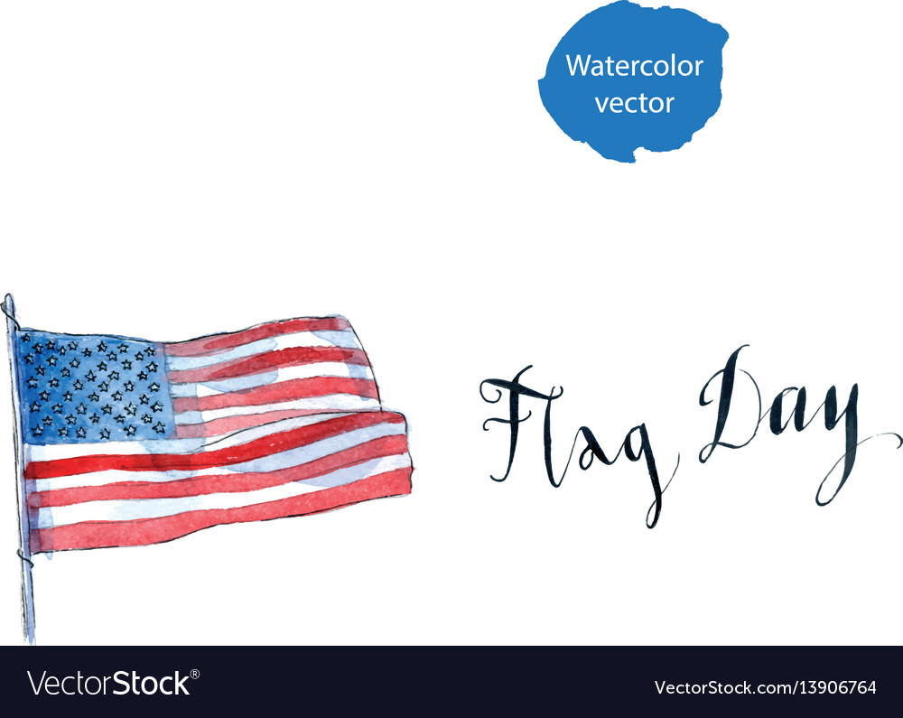 Flag day of america vector image
