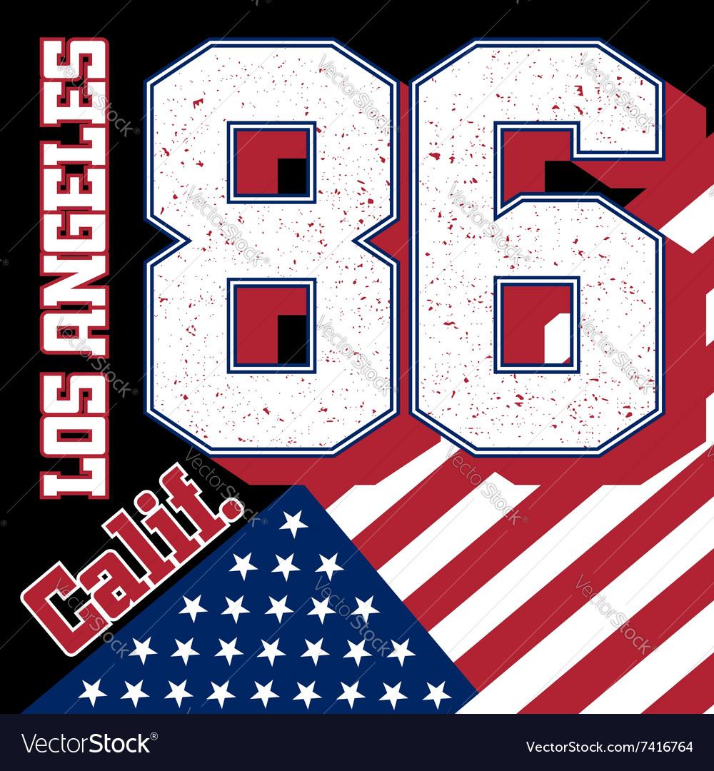 LA t-shirt with flag
