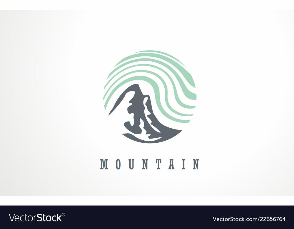 Outdoor mountain wild nature sky logo