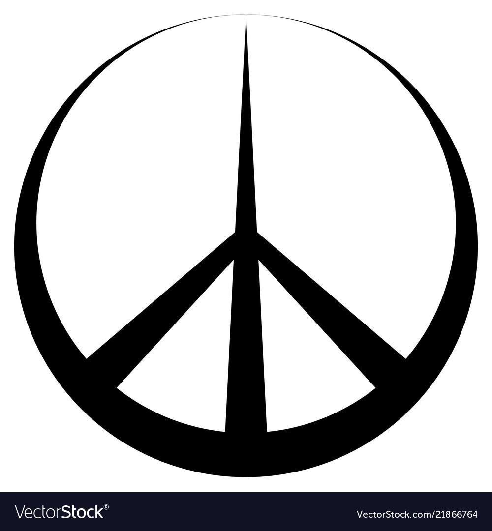 Peace symbol pacific conciliatory sign