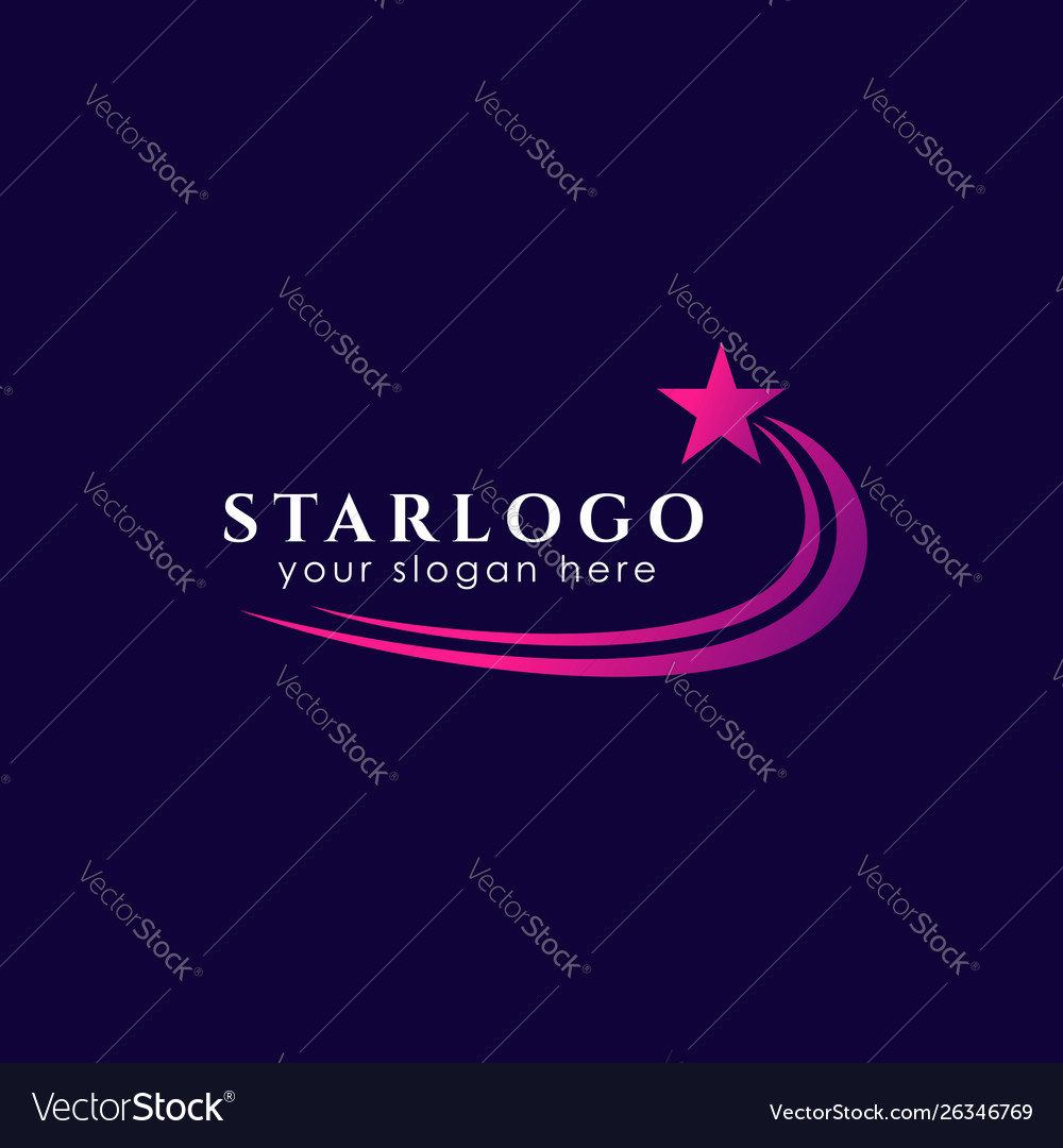 Flying star logo design stock template star icon