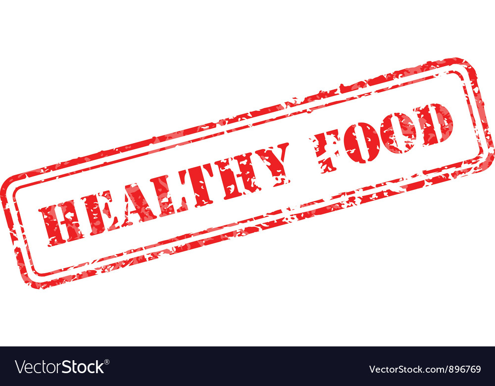 Healthy food rubber stamp