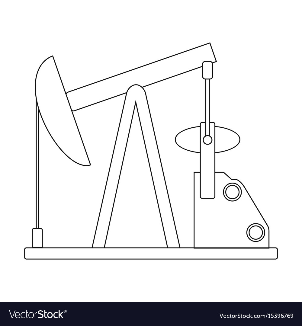 Oil pumpoil single icon in outline style vector image