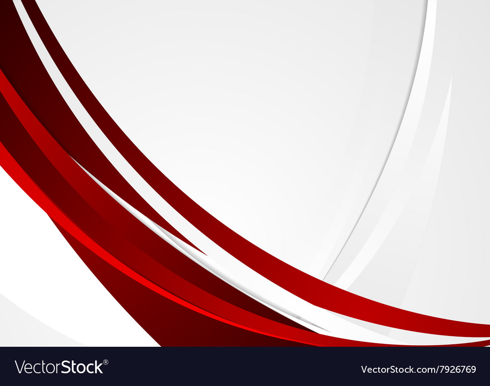 Red grey wavy corporate abstract background