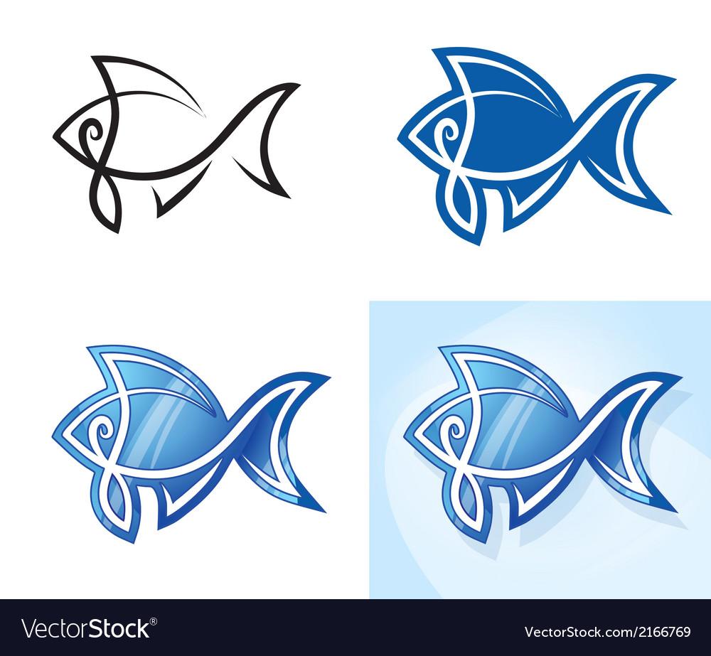 Stylized fish set