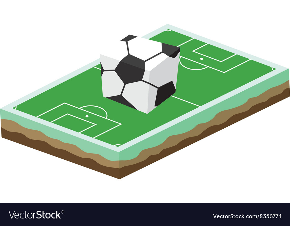 Cartoon soccer field