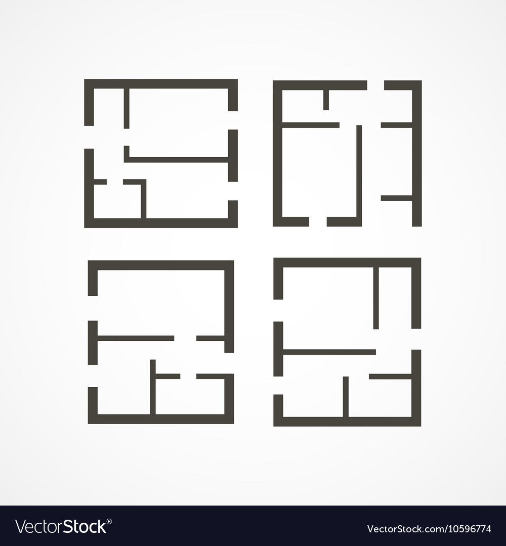 Floor plan icons Royalty Free Vector
