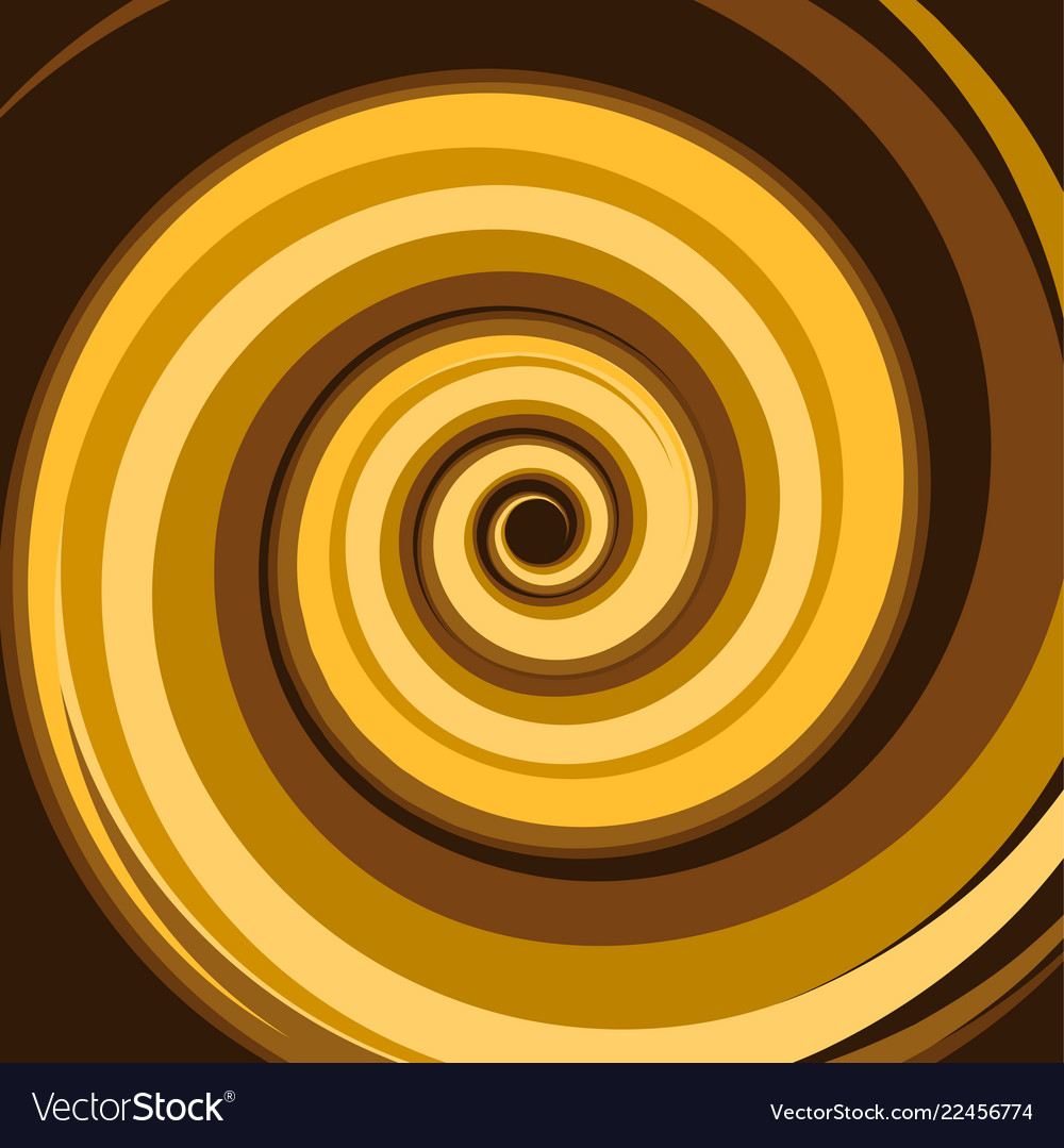 Gold caramel colored twirl spiral abstract