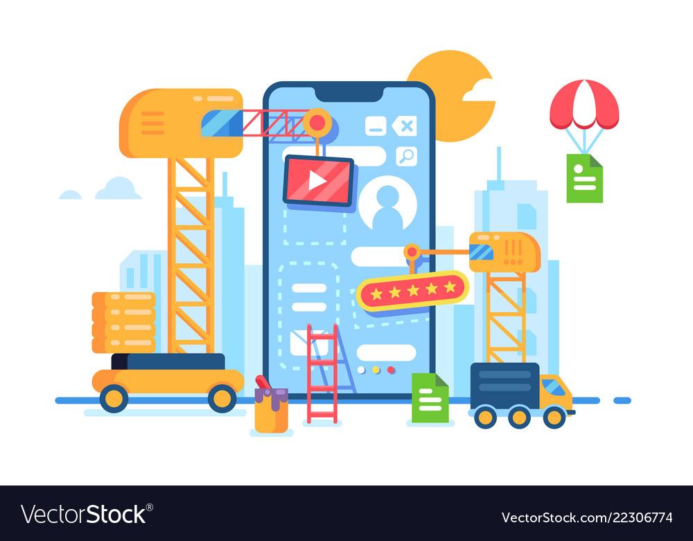 Mobile app building development creative process