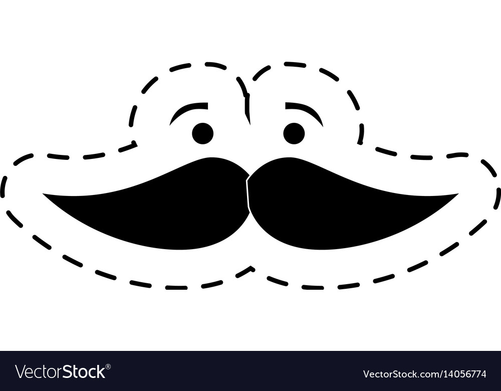 Mustache character isolated icon