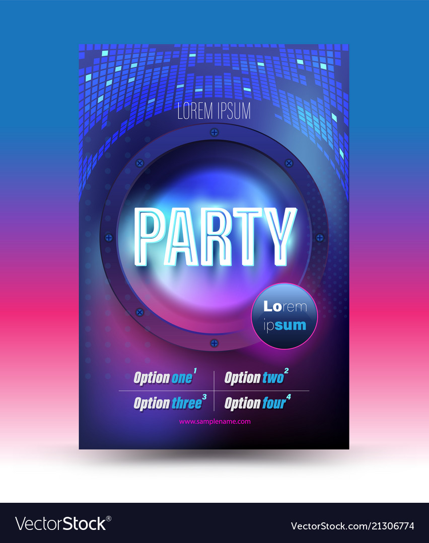 Party Poster Template Royalty Free Vector Image