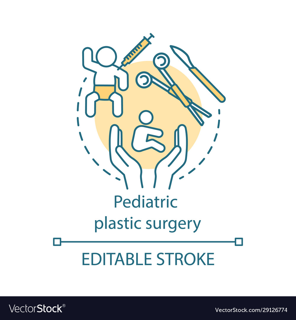Pediatric Plastic Surgery Concept Icon Royalty Free Vector
