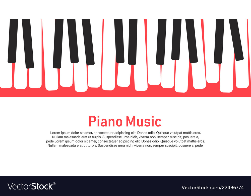 Piano on a yellow background