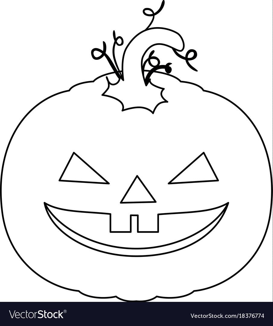 Pumpkin hallooween decorative icon