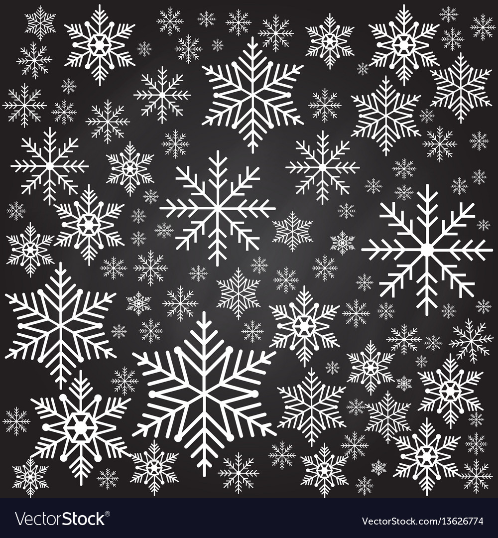 Snowflakes seamless background pattern