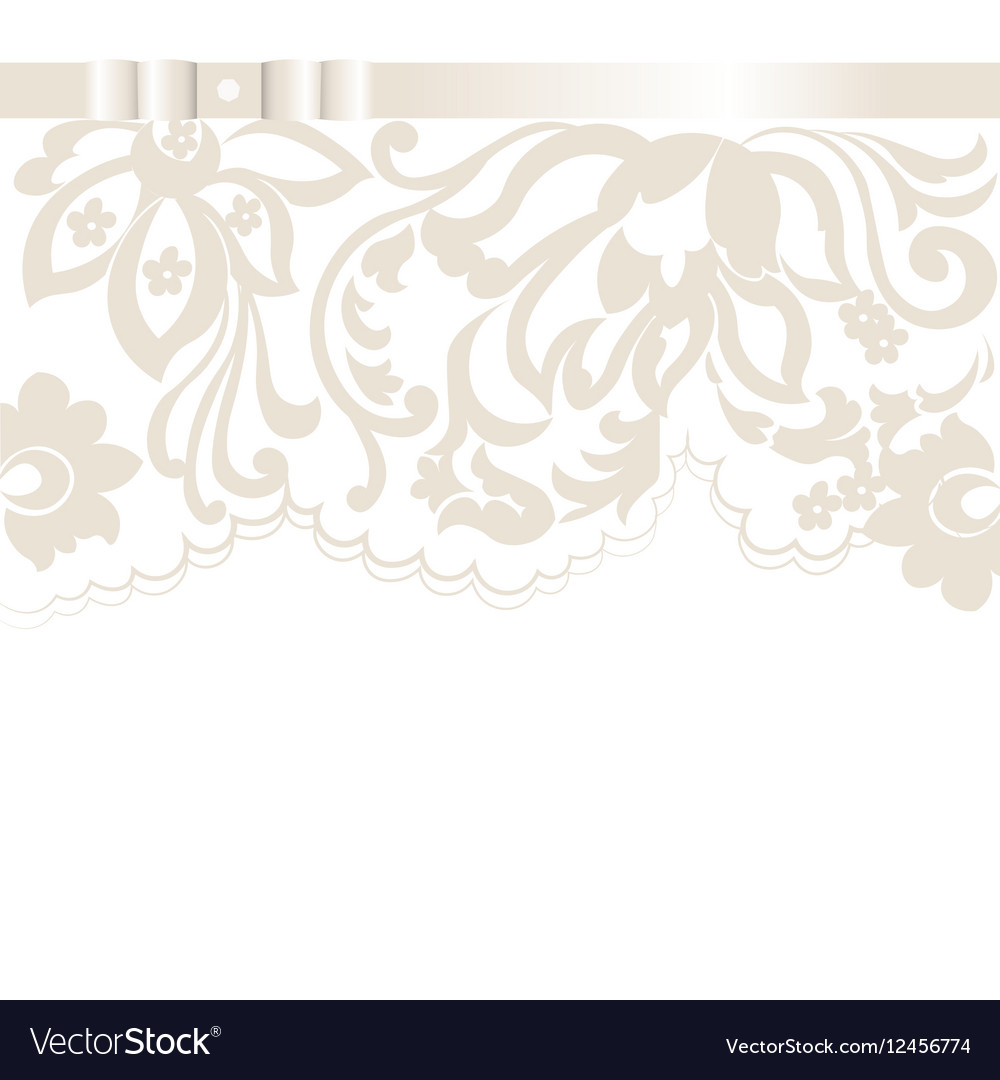 Wedding Invitation card with lace floral ornament