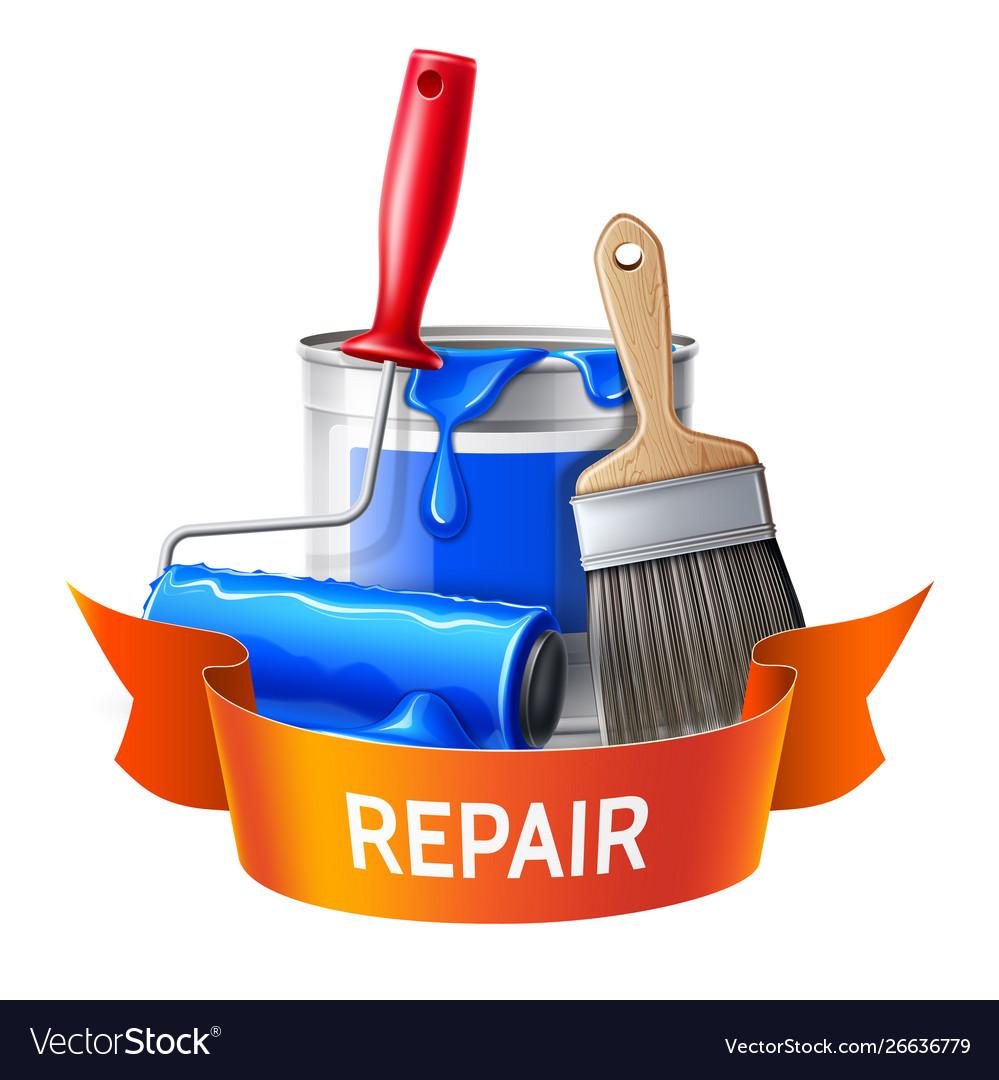 3d wall painter tool brush roller bucket
