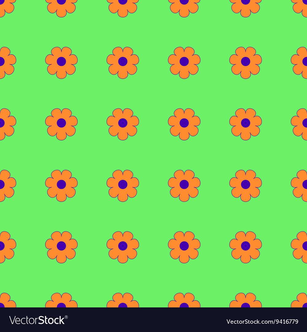 Flowers geometric seamless pattern 1803