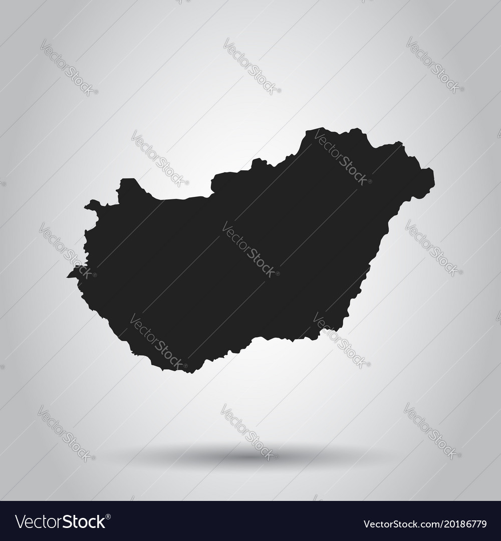 Hungary map black icon on white background vector image gumiabroncs Images