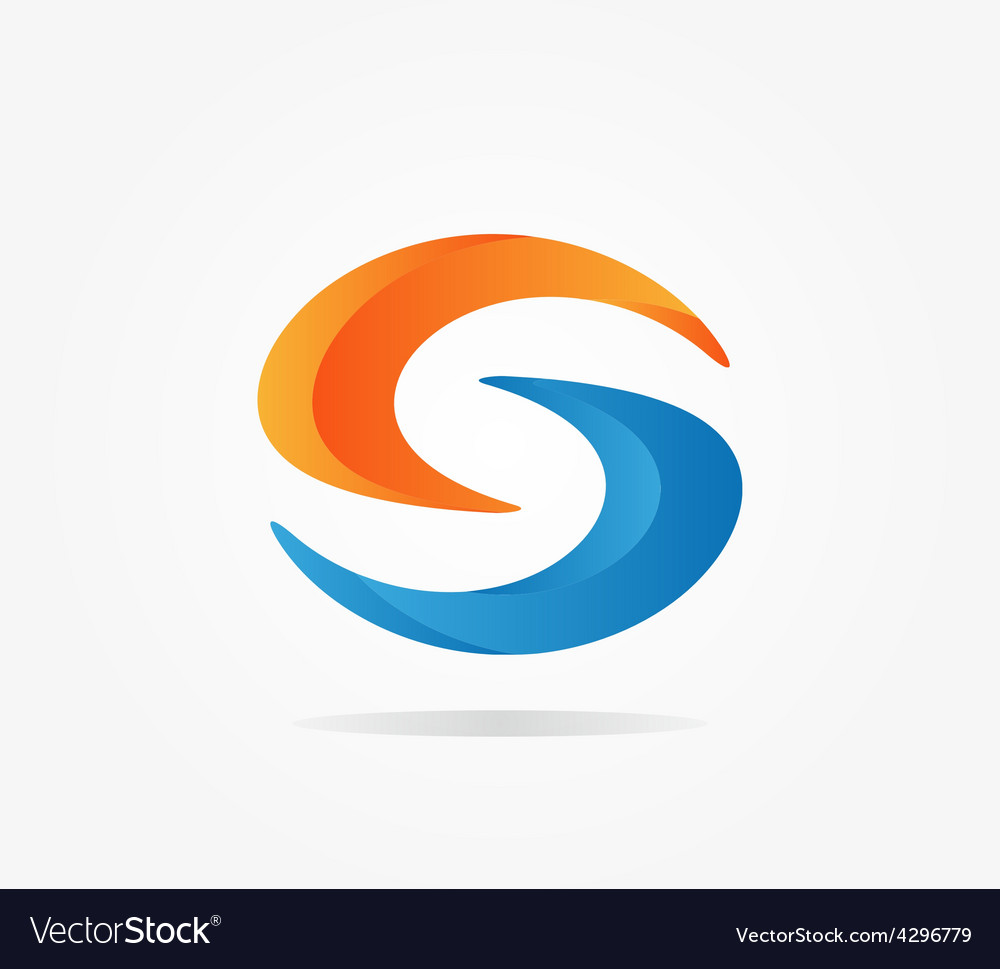 Logo S letter for company design template