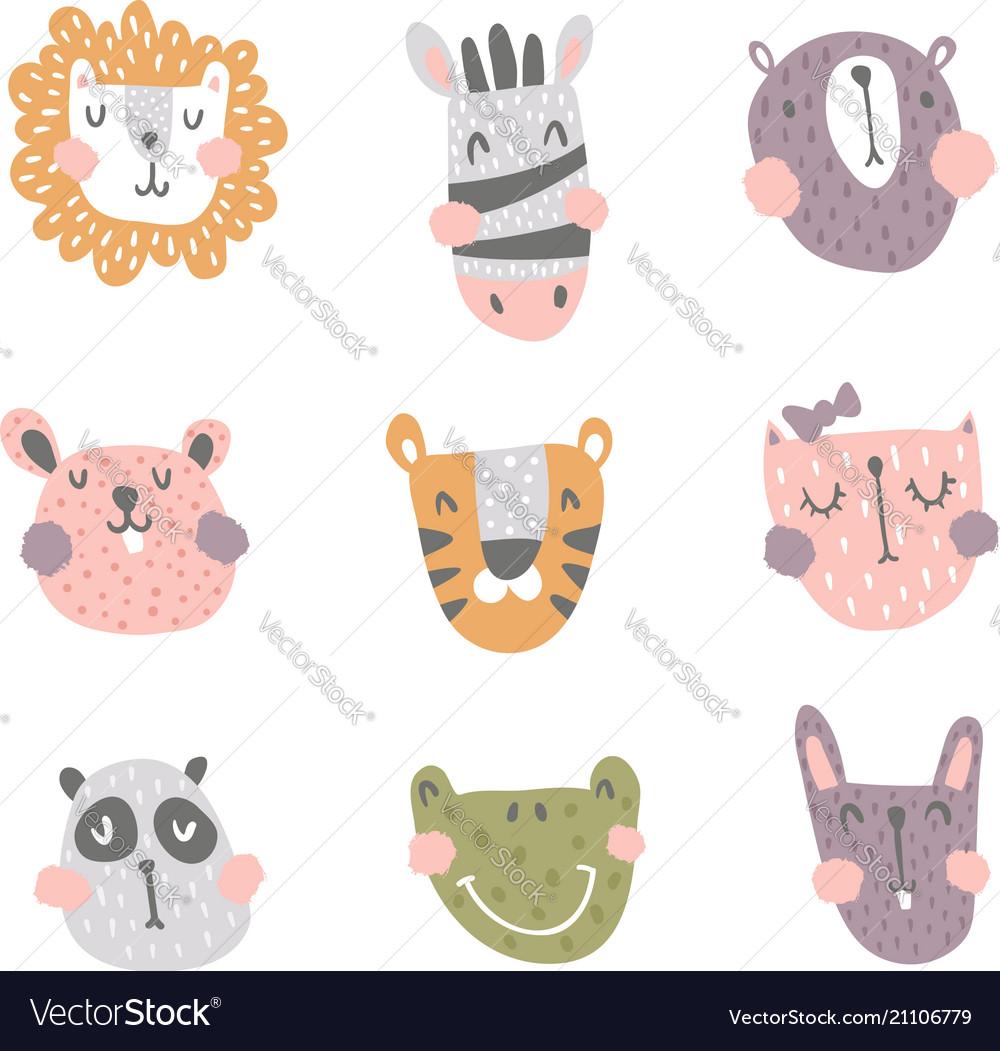 Nursery animals vector image