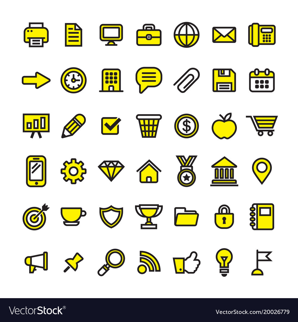 Office business and finance icons