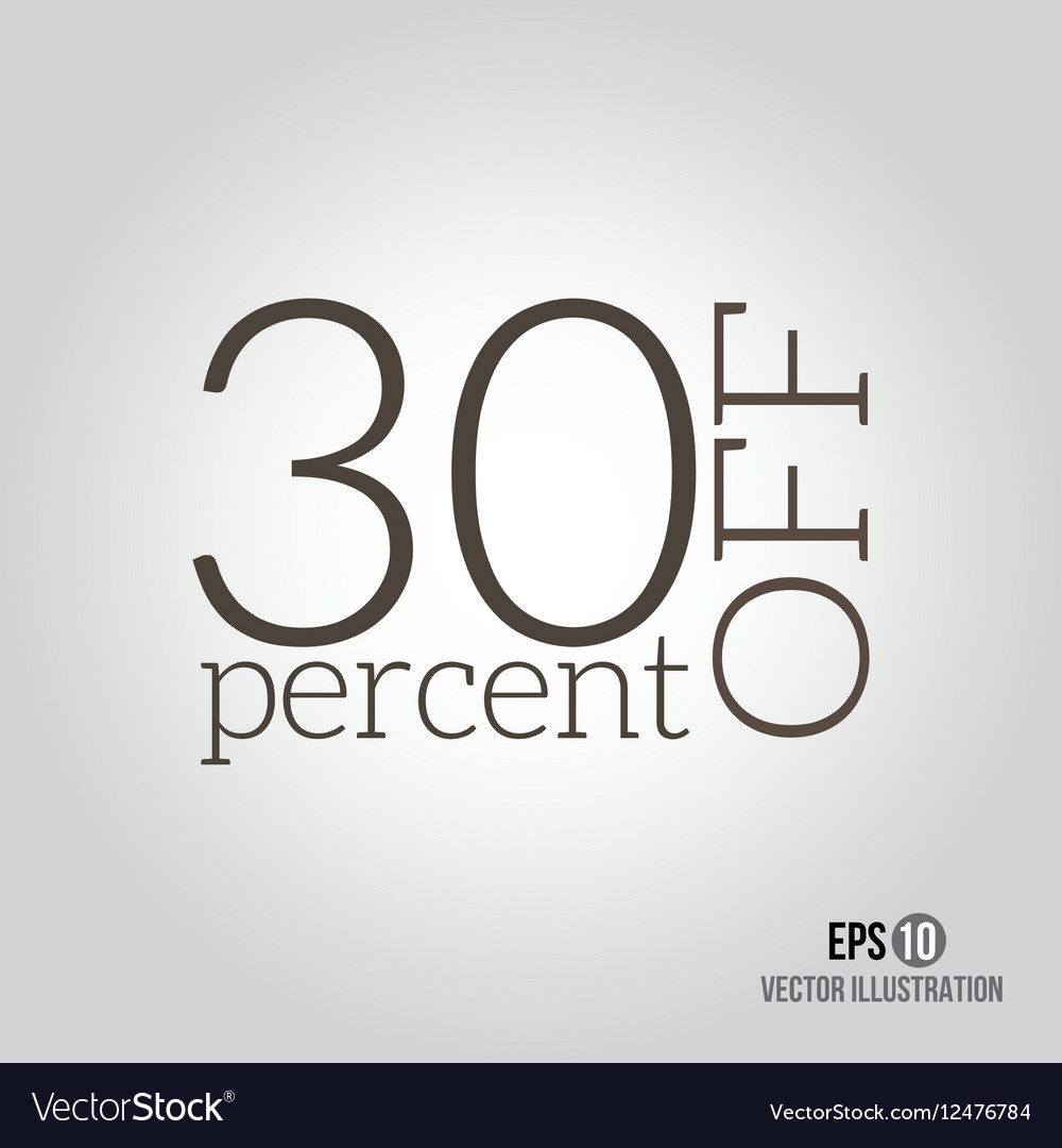 30 sale Price off icon with 30 percent discount