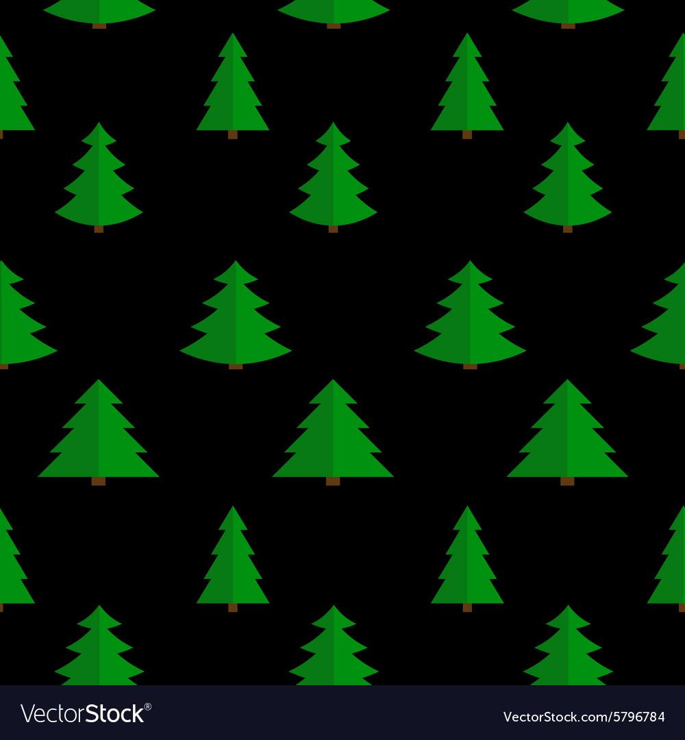Christmas Flat Tree Seamless Pattern Background
