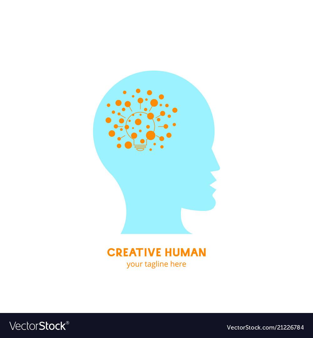 Creative human logo idea
