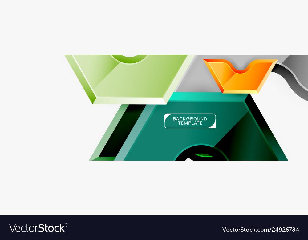 Geometric banner made glossy geometric shapes