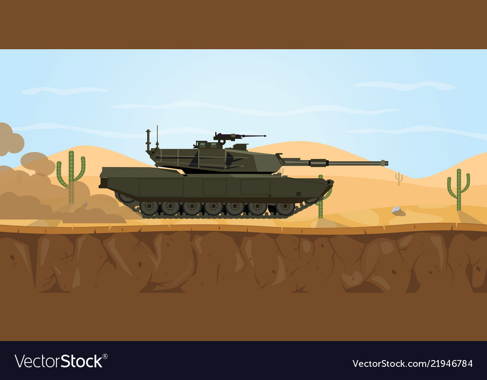 M1 abrams tank usa main battle tank on the desert