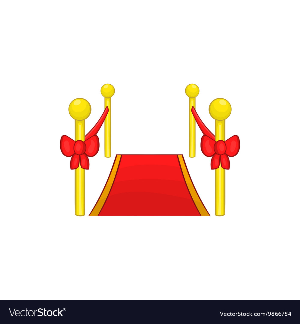 Red Carpet Icon Cartoon Style Royalty Free Vector Image