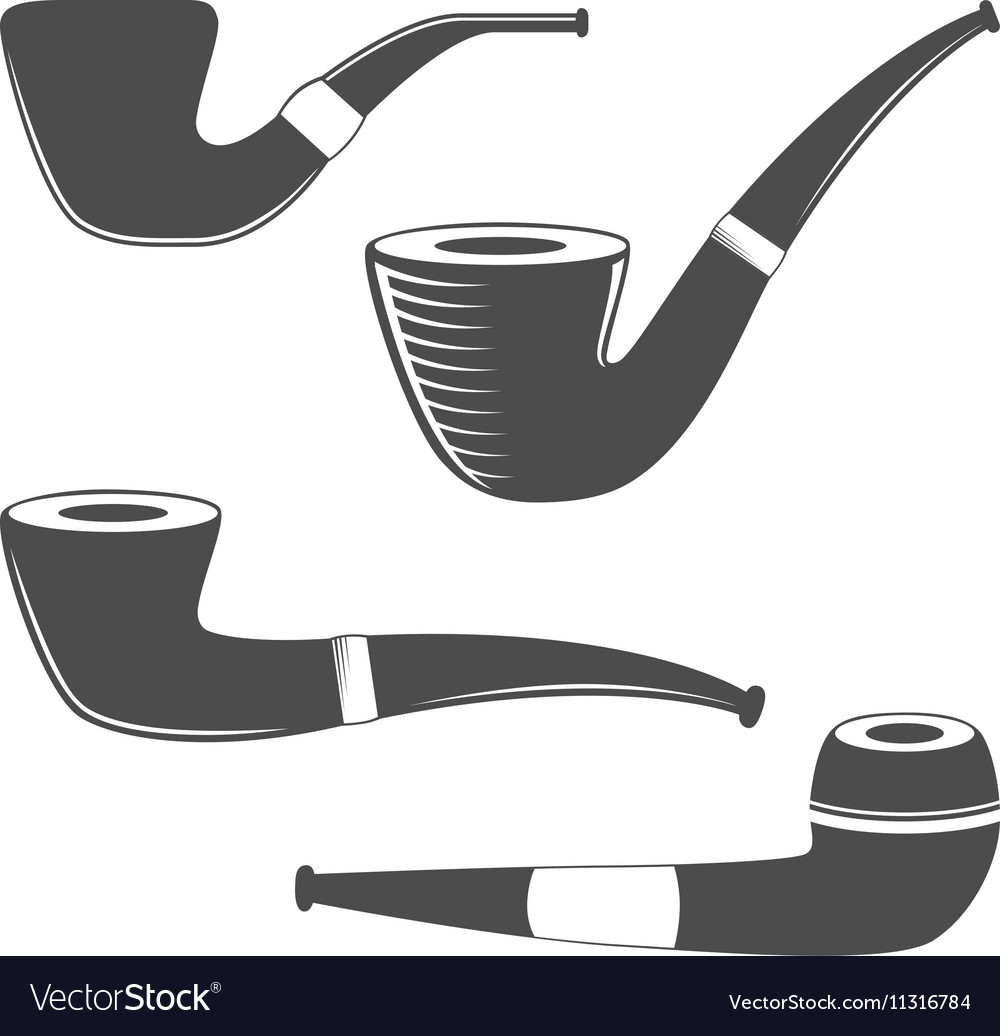 Smoking pipes isolated on white background