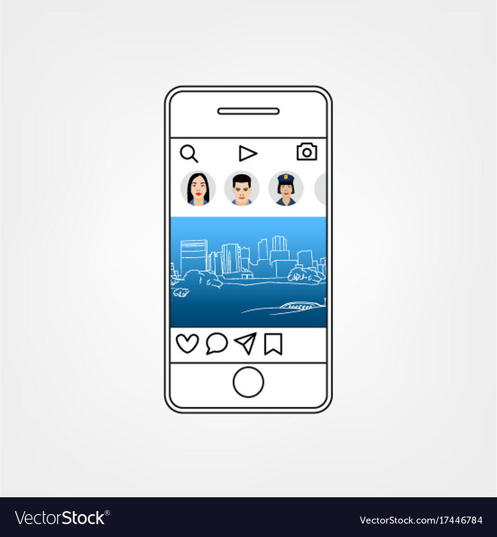 Social Network Template Royalty Free Vector Image