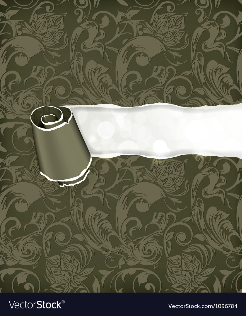 Torn paper Wallpaper background vector image