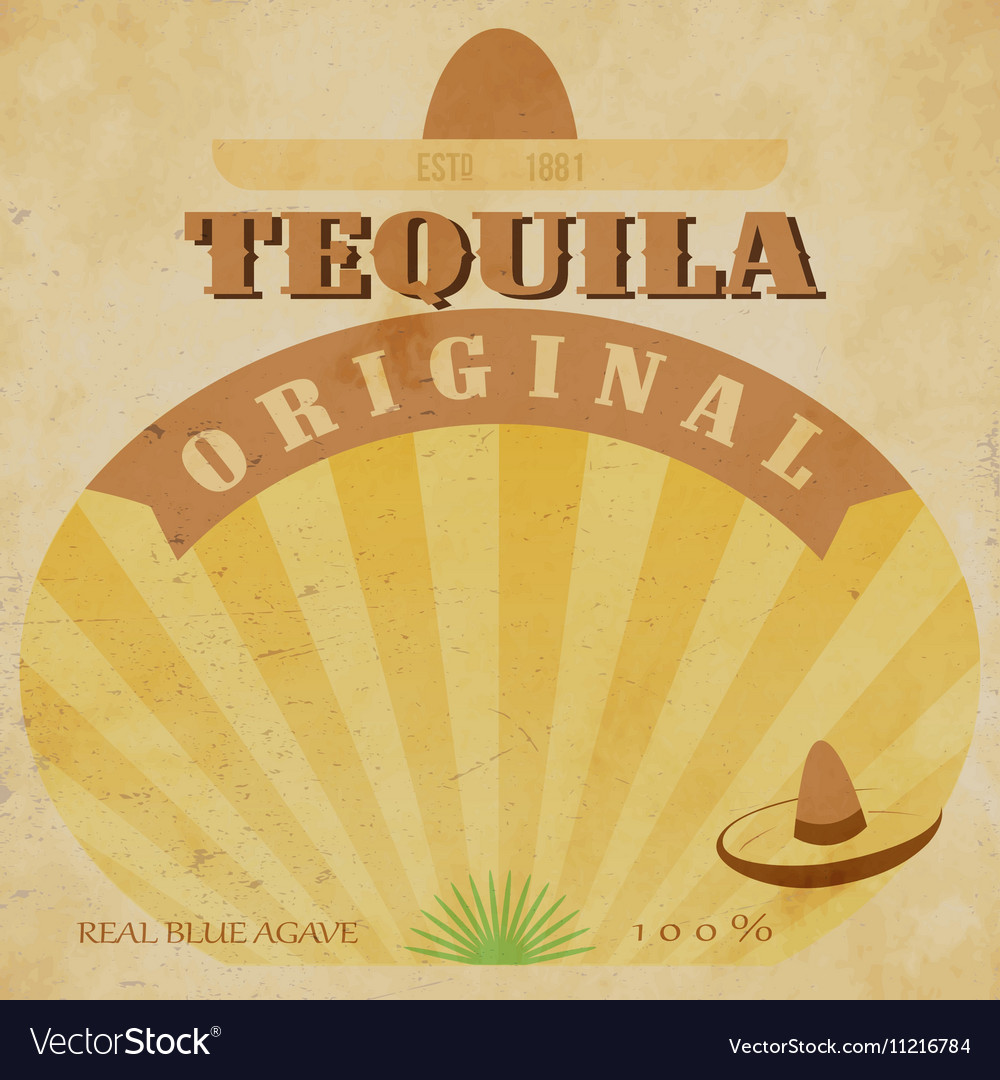 Vintage alcohol label Fully editable EPS10