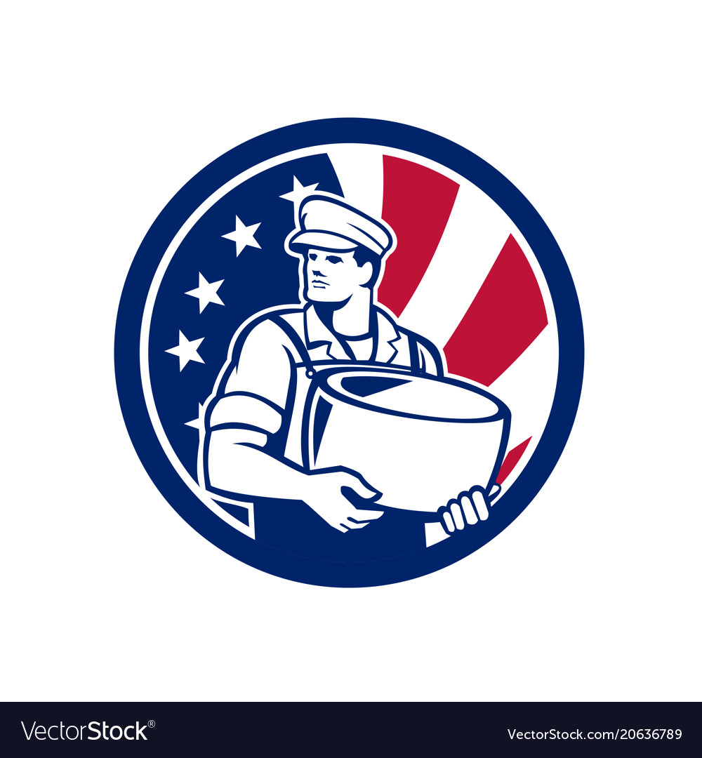 American artisan cheese maker usa flag icon