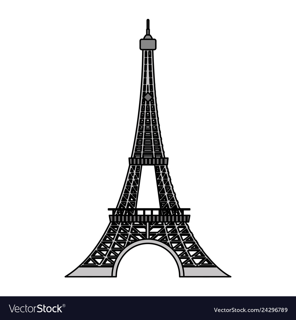 - Color Eiffel Tower Architecture From Paris France Vector Image