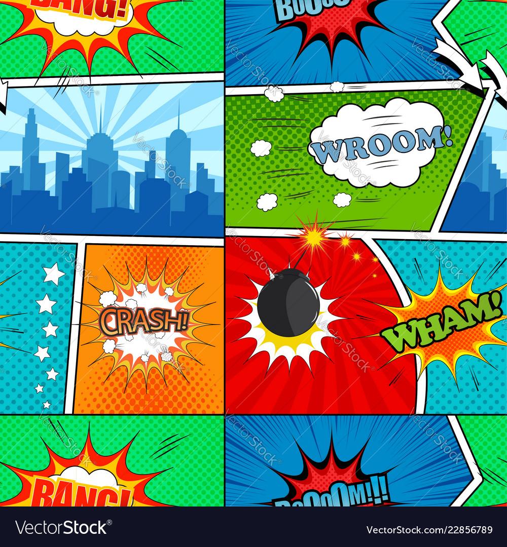 Comic book seamless pattern