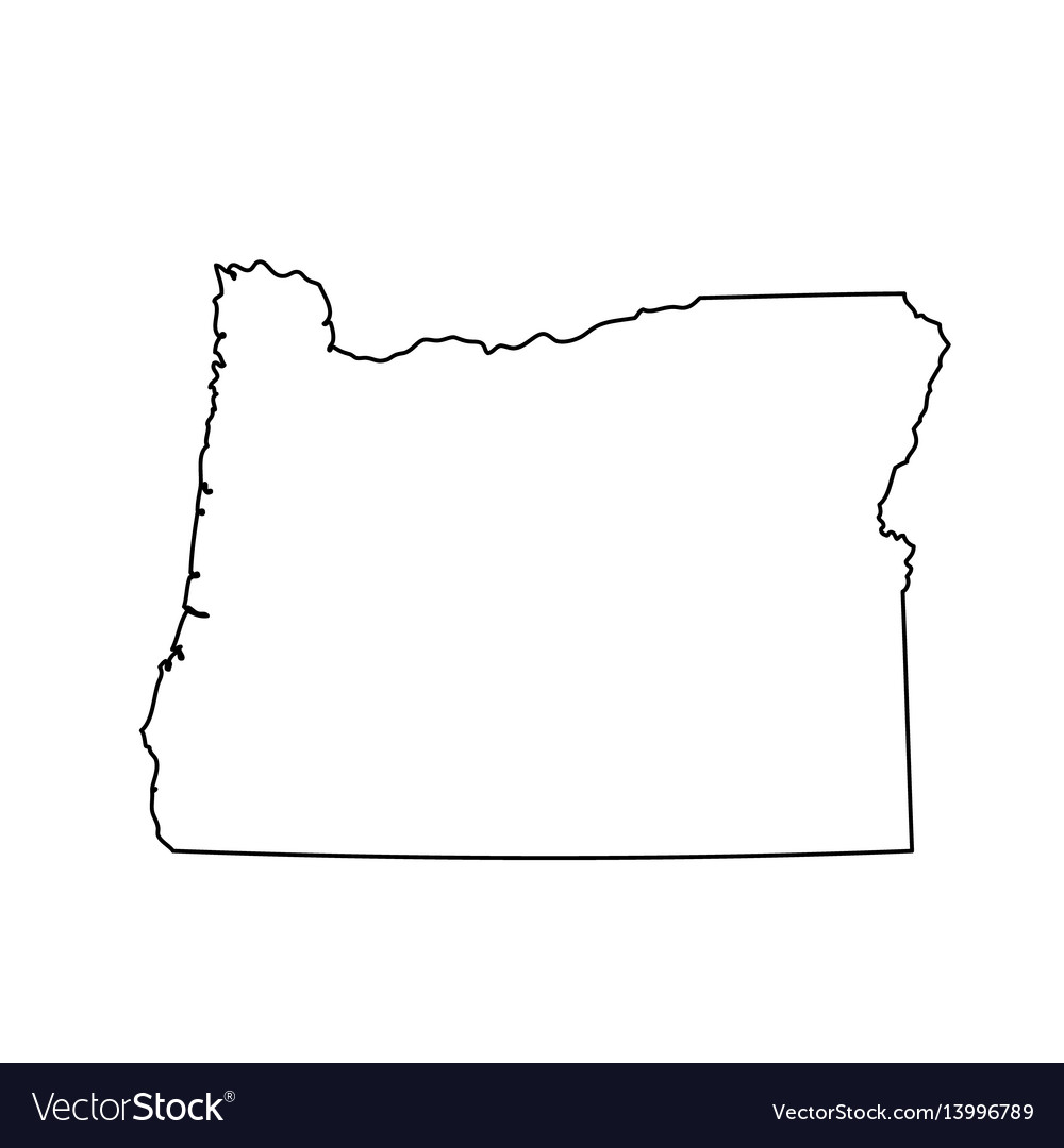 map of the us state of oregon royalty free vector image