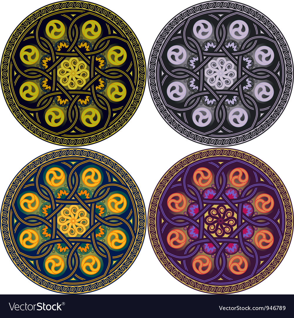 plate with national arabian patterns royalty free vector