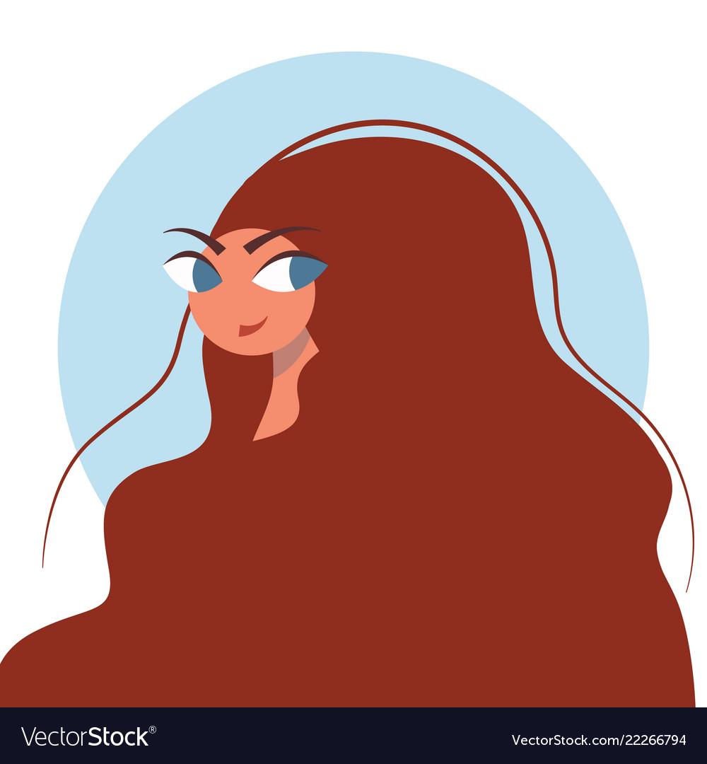 Beauty salon portrait of pretty young woman in