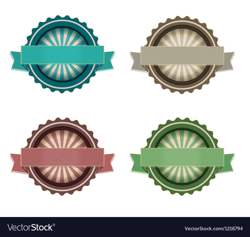 Blank retro labels vector image