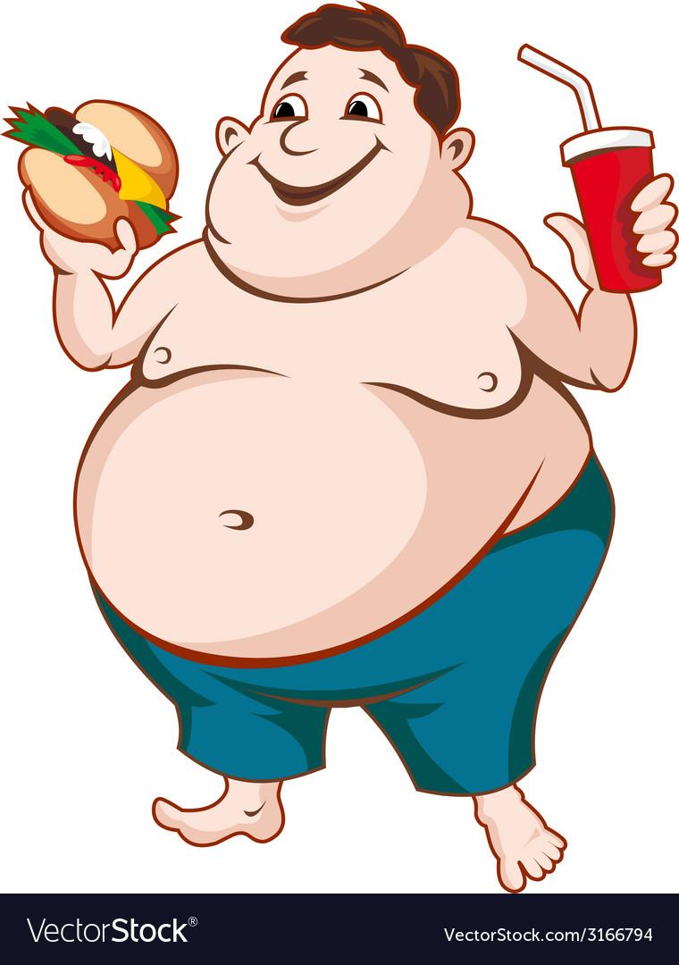 fat man royalty free vector image - vectorstock  vectorstock